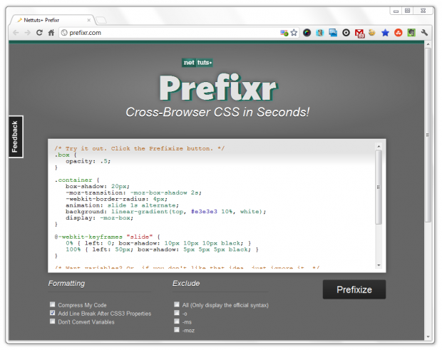 Get Cross-Browser CSS in Seconds with Prefixr - ChurchMag