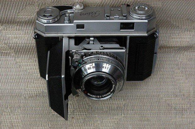 retro vintage kodak retina II camera