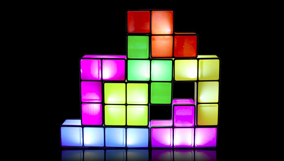 Tetris Lamp Lights Up When You Stack the Blocks