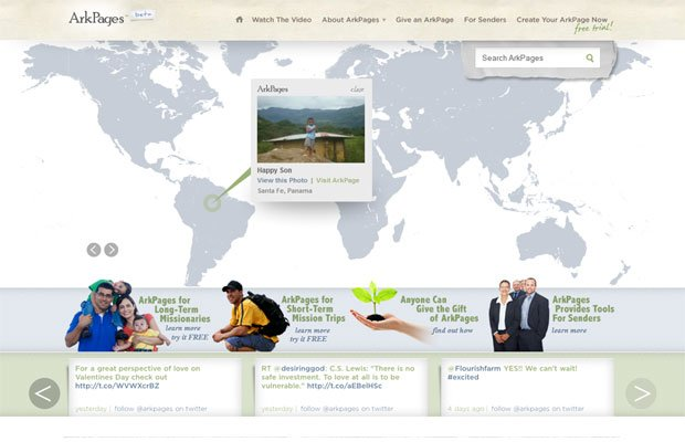 ArkPages: Web Pages for Missionaries