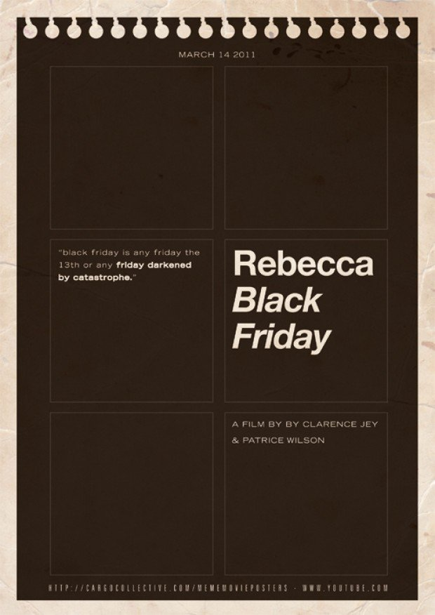 meme movie posters rebecca black friday