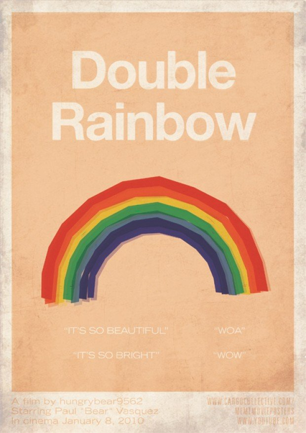 meme movie posters double rainbow