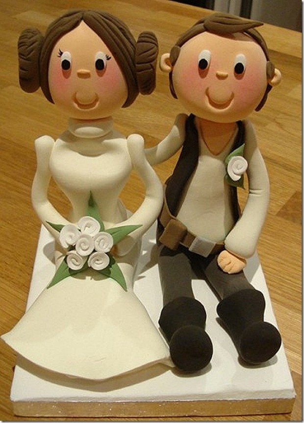 Star wars wedding cake toppers churchmag star wars wedding cake toppers han solo princess leia junglespirit Gallery