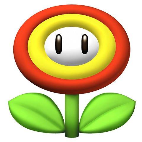 smb nes 8-bit fire flower power up