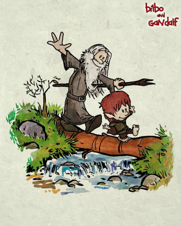calvin and hobbes lord of the rings bilbo gandalf mashup