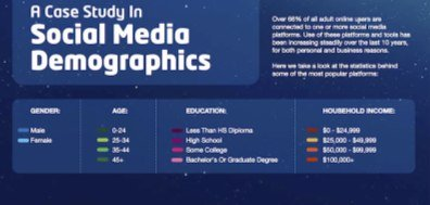 The Demographics of Social Media [Infographic]