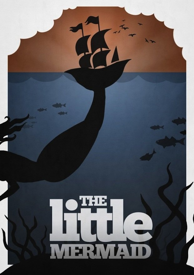 minimal disney movie poster little mermaid