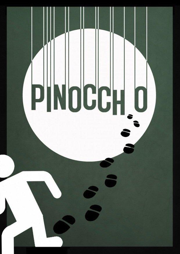 minimal disney movie poster pinocchio