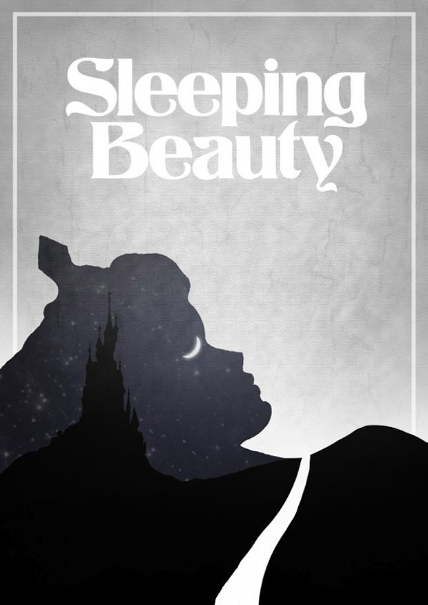minimal disney movie poster sleeping beauty