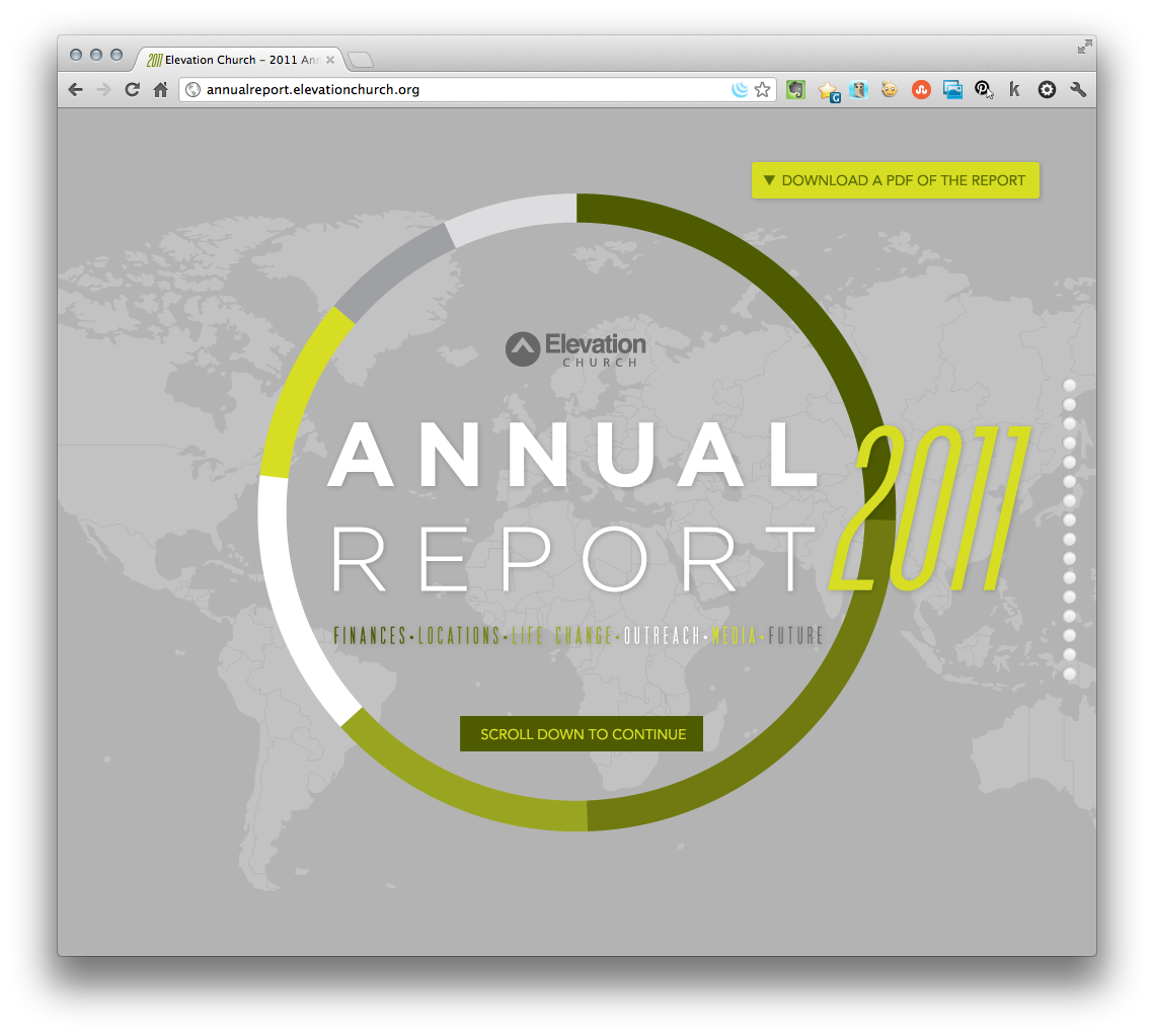 Web Design Well Done: Elevation Church Report