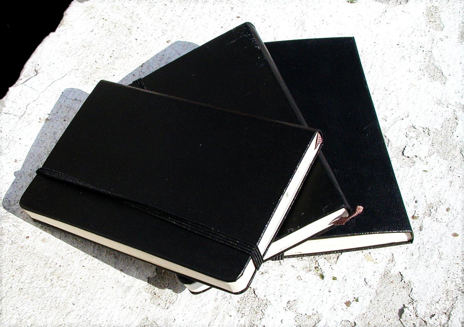 Notebooks, stone, B & W,