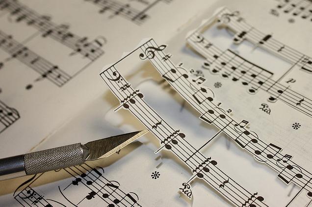 creative sheet music art