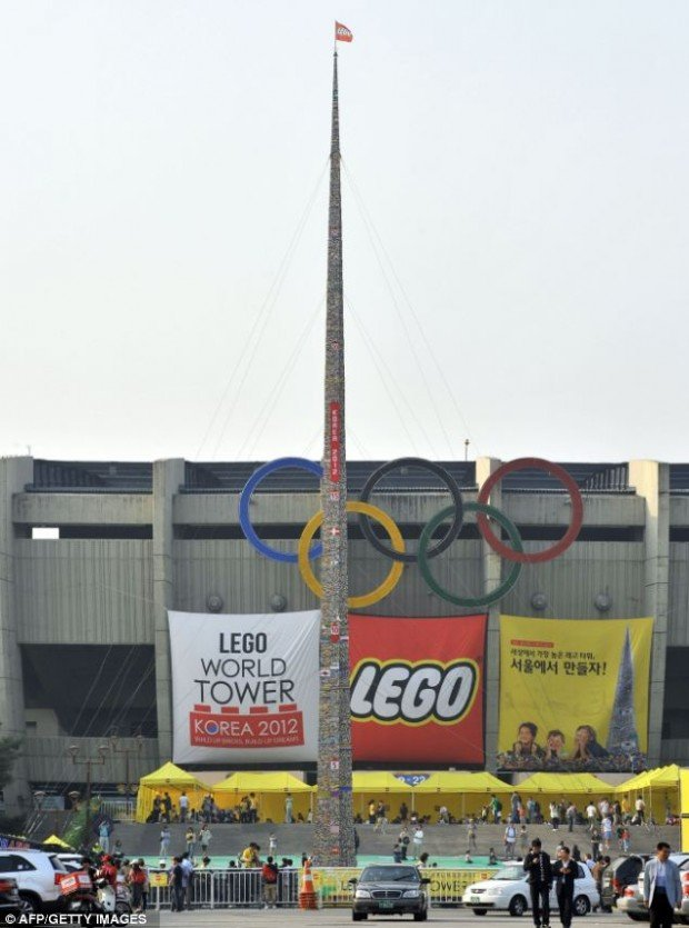 world record tallest lego tower