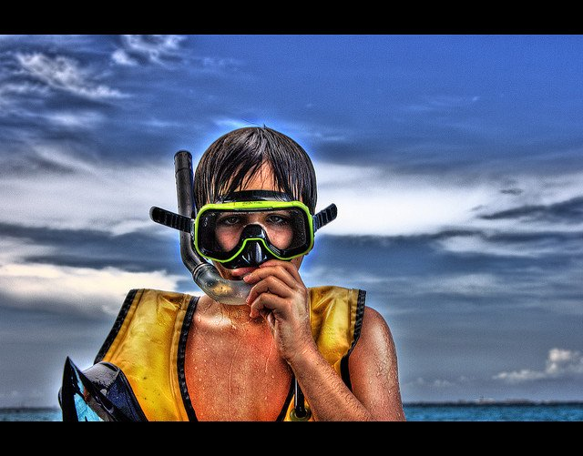snorkel diving swimming ocean summer fun