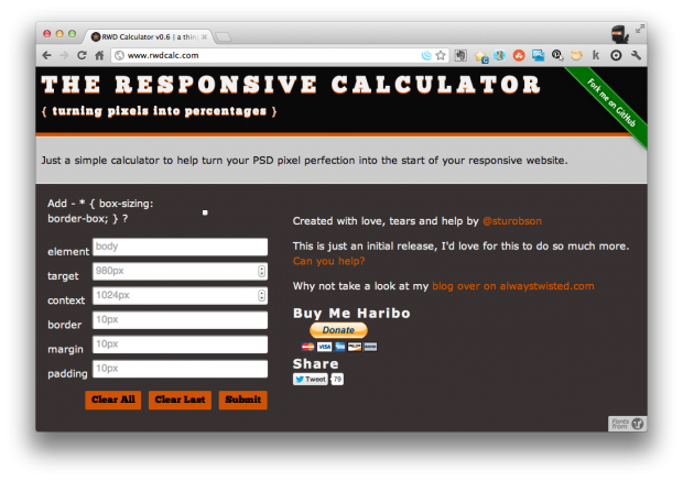 The Responsive Calculator screen