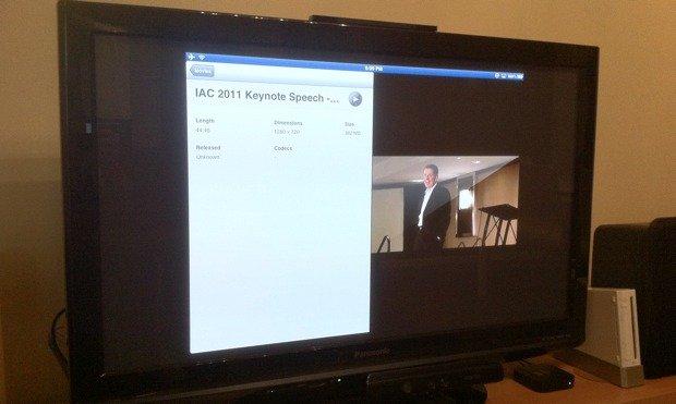 iPad preparing to mirror video to Apple TV