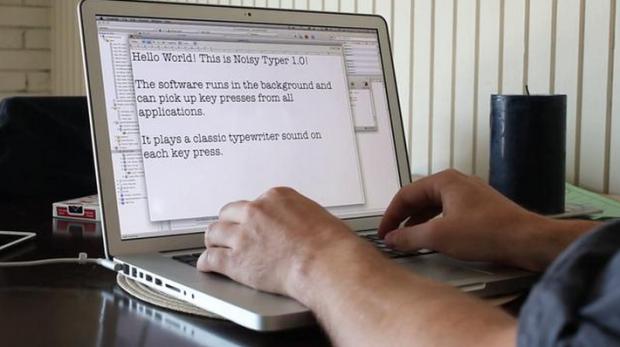 Noisy Typewriter mac app