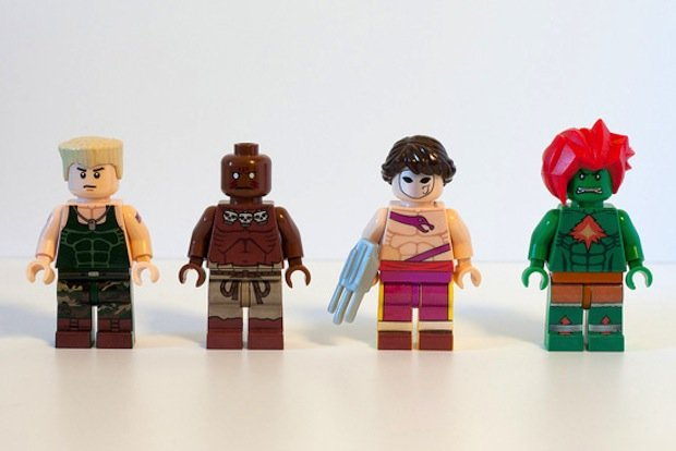 Street Fighter LEGO Minifigs