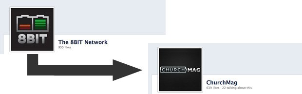 Facebook Migration: From 8BIT Network, To ChurchMag