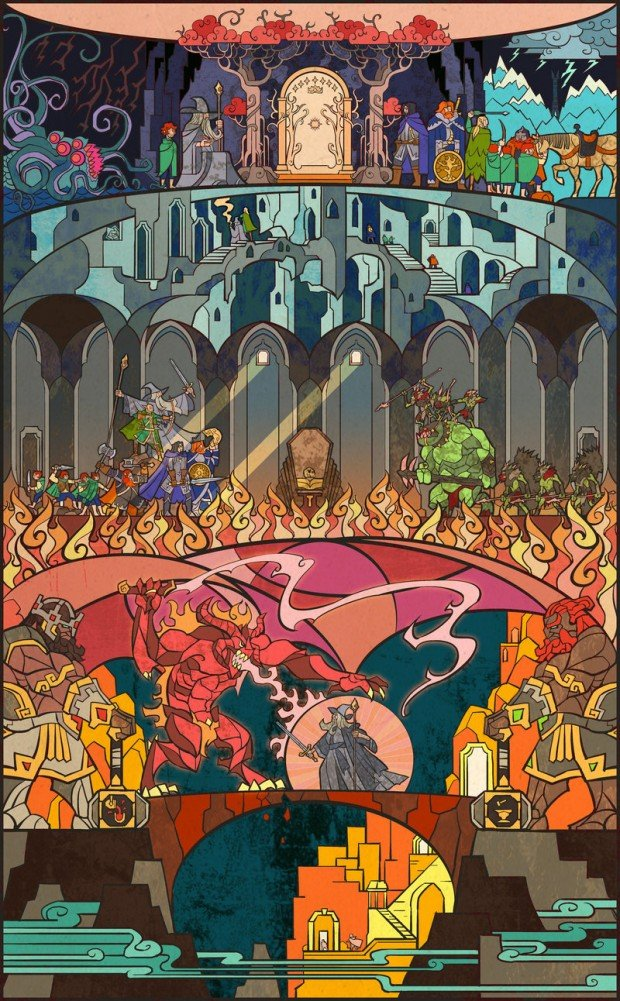 lord of the rings stained glass