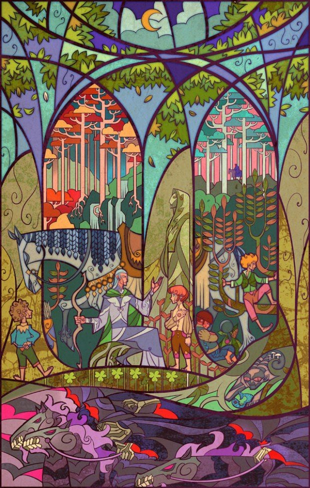 Beautiful Stained Glass Styled 'Lord of the Rings' Posters