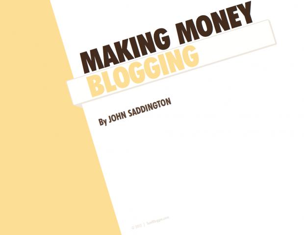 making money blogging ebook tentblogger john saddington