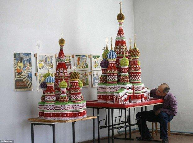 paper origami folding models russian landmarks