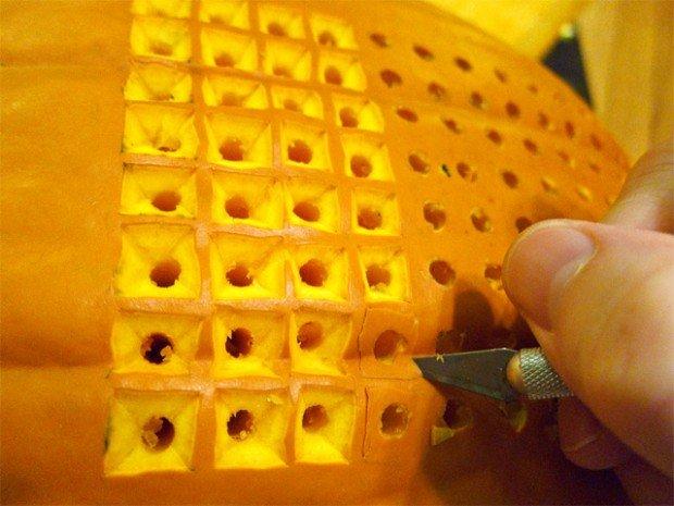 pumpkin carving tetris halloween