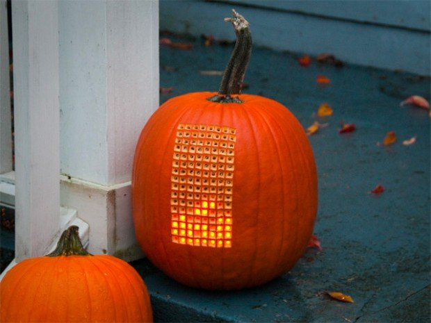 pumpkin carving tetris halloween