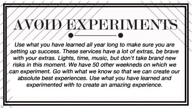 Avoid Experiments (Slide from Stephen Brewster)