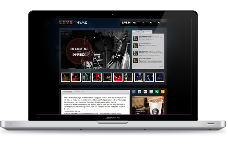 Live Theme\' - The Only WordPress Theme for Live Events - ChurchMag