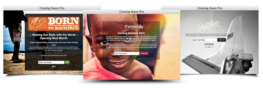 Flexible 'Coming Soon' WordPress Pages