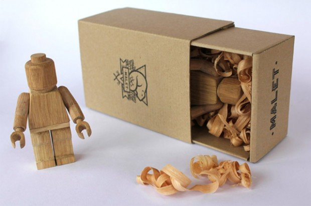Limited Edition Wood-Carved Lego Guys by Malet Thibaut