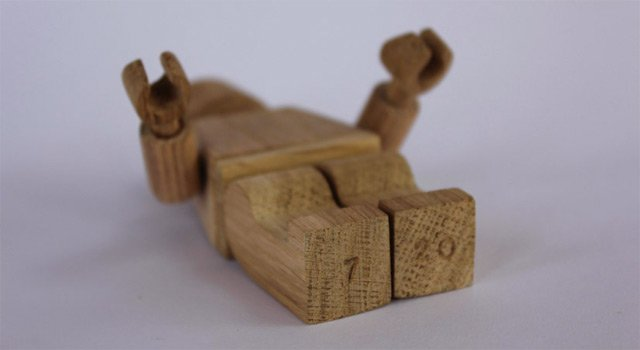 Amazing, Limited Edition, Wood-Carved LEGO Man