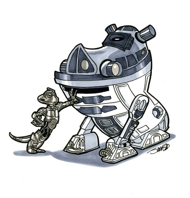 More Illustrations of Disney Characters in Star Wars