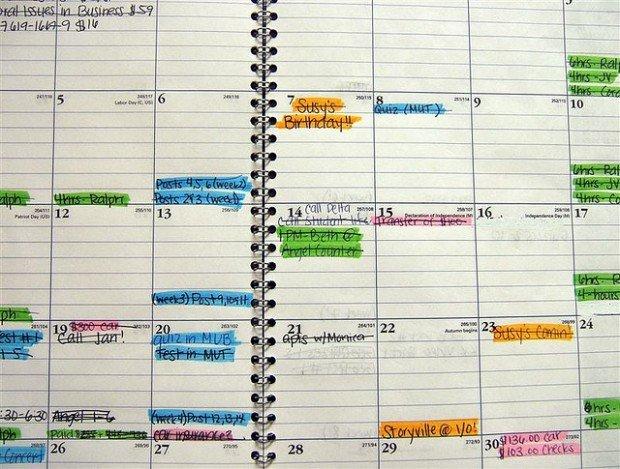 full schedule calander