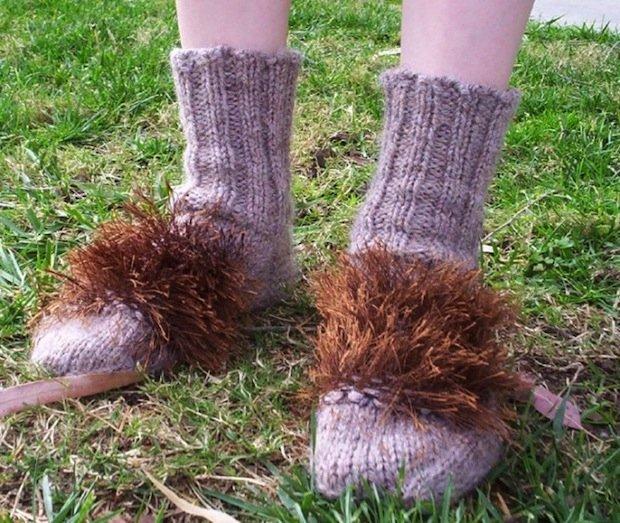 Winter Hobbit Feet Slippers - Hawk Down |Hobbit Feet Slippers