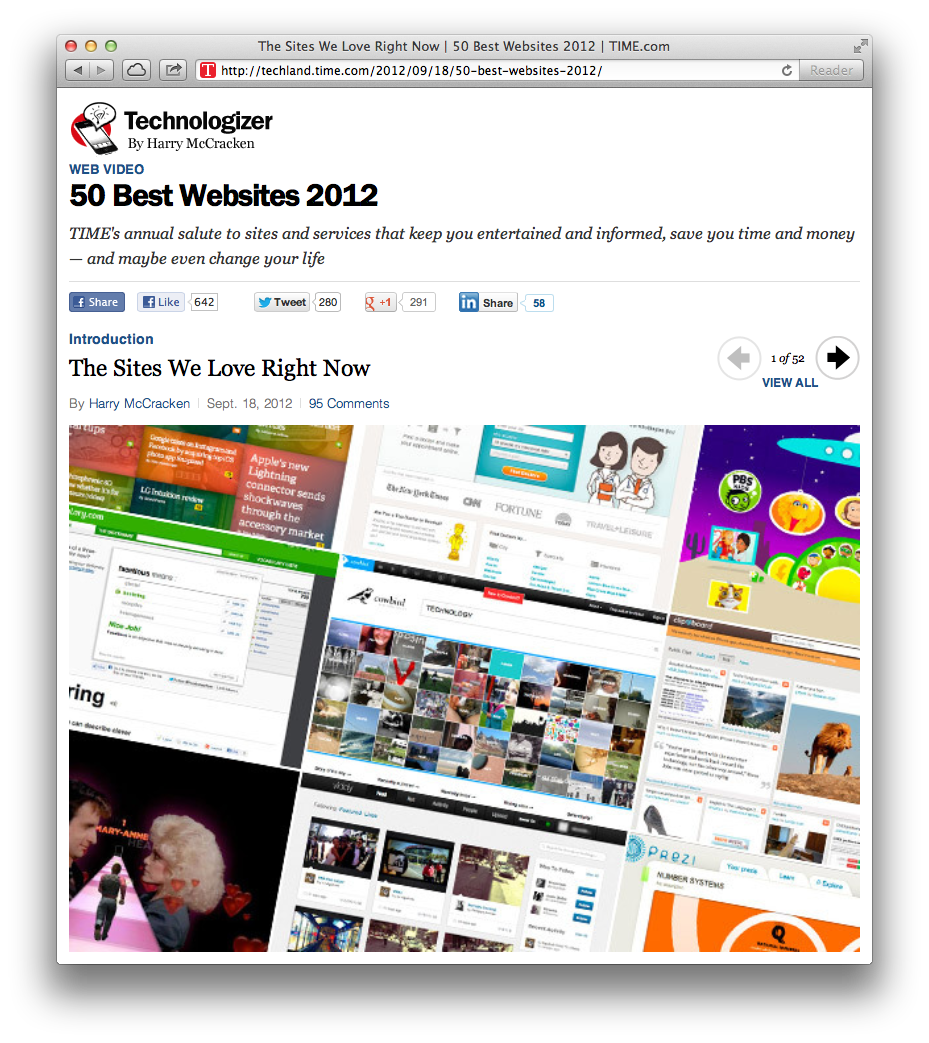 TIME's 50 Best Websites of 2012