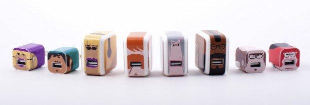 Whooz Iz iphone ipad usb charger stickers label