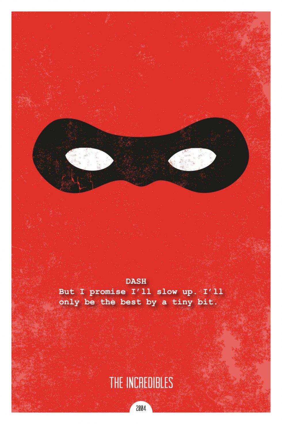 pixar incredibles movie poster design minimal