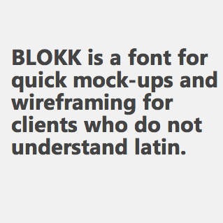The Perfect Font for Mock-Ups