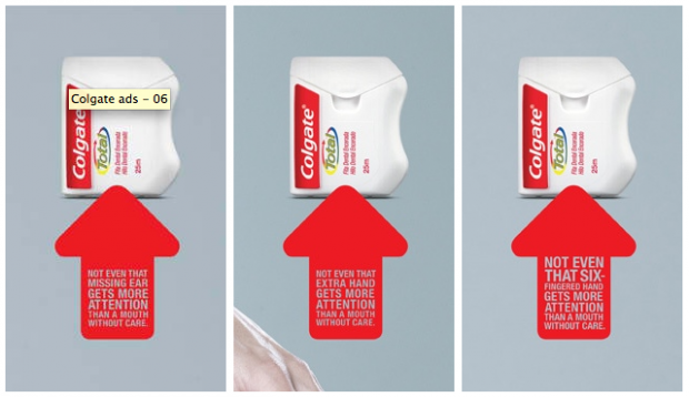 creative advertising ads colgate