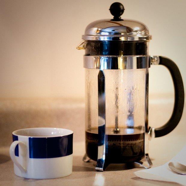 french press coffee wake up