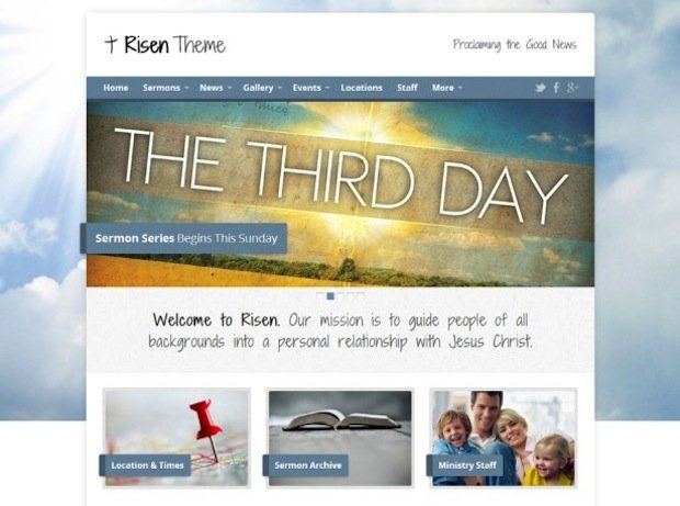 church wordpress theme