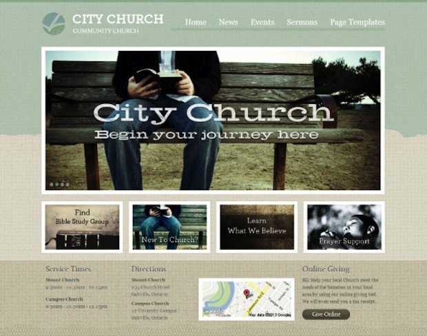 3 Church WP Theme
