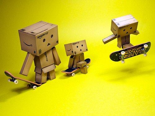 Skatboard skills amazon box men