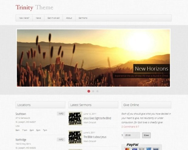 5 Church WP Theme