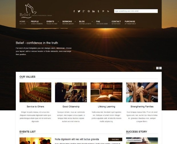 7 Church WP Theme
