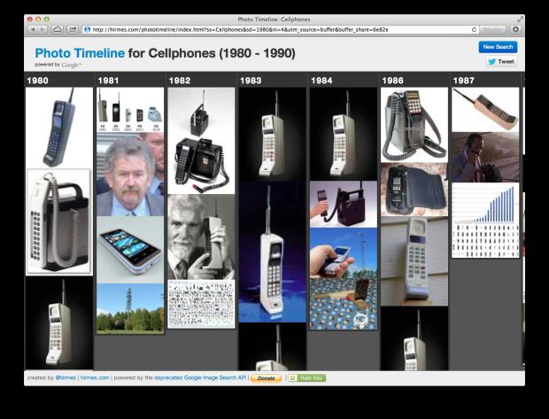 Cellphone Photo Timeline