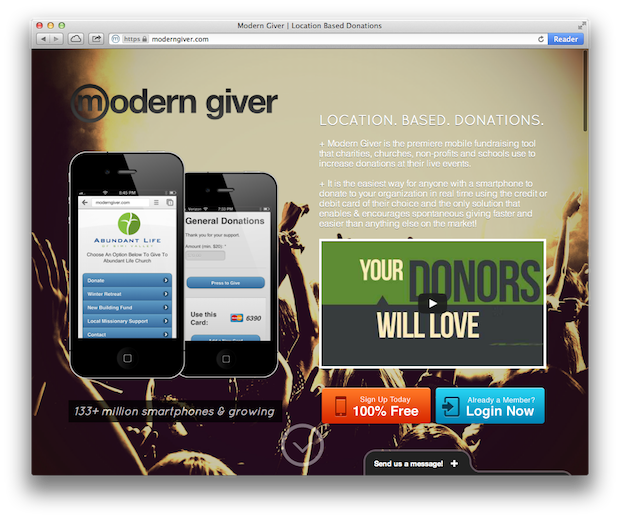 Modern Giver Website